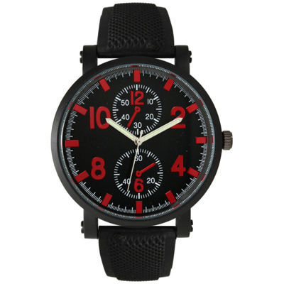 Olivia Pratt Mens Red And Black Silicone Watch 26525Red