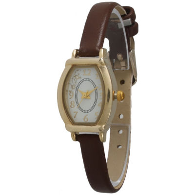 Olivia Pratt Womens Petite Brown Leather Watch 13420Brown