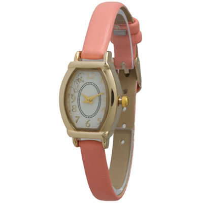 Olivia Pratt Womens Petite Coral Leather Watch 13420Coral