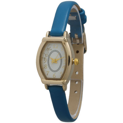 Olivia Pratt Womens Petite Dark Blue Leather Watch 13420Darkblue