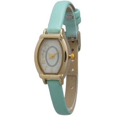 Olivia Pratt Womens Petite Mint Leather Watch 13420Mint
