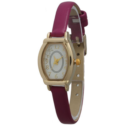 Olivia Pratt Womens Petite Purple Leather Watch 13420Purple
