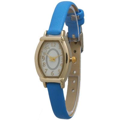 Olivia Pratt Womens Petite Royal Blue Leather Watch 13420Royalblue