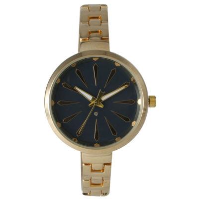 Olivia Pratt Womens Gold Navy Dial Petite Band Bracelet Watch 15134 15134Goldnavy