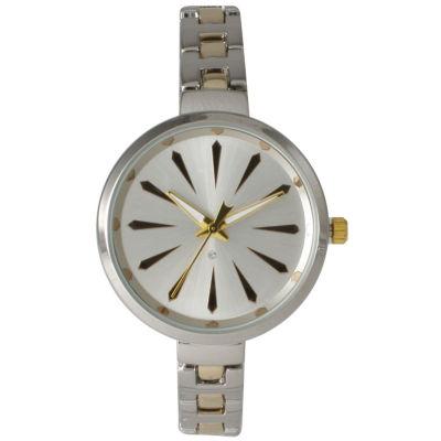 Olivia Pratt Womens Two Tone Petite Band Bracelet Watch 15134 15134Twotone