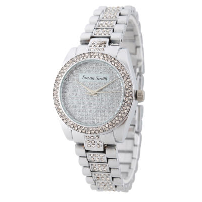 Personalized Womens Silver Tone Alloy Bracelet Watch
