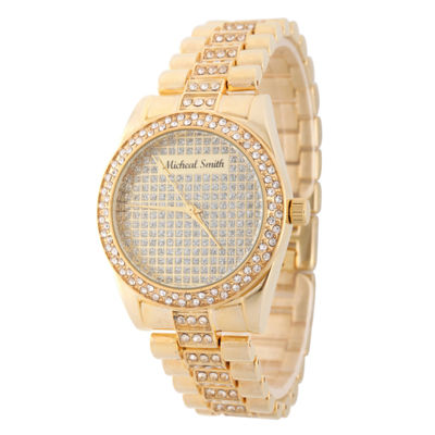 Personalized Mens Gold Tone Bracelet Watch