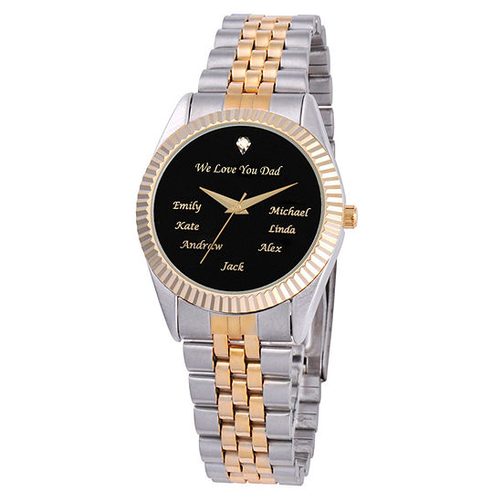 Mens Two Tone Bracelet Watch-Pw00057