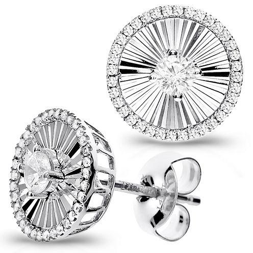 1/4 Diamond 14K White Gold Stud Earring