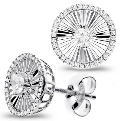 1/3 Diamond 14K White Gold Stud Earring