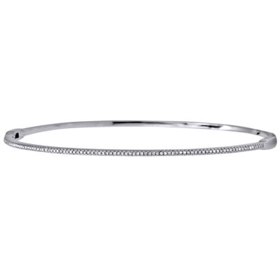 1/6 Diamond 14K White Gold Bangle Bracelet