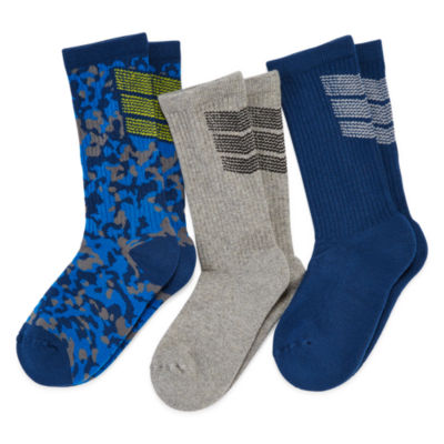 Xersion™ 3-pk. Performance Crew Socks - Boys 8-20