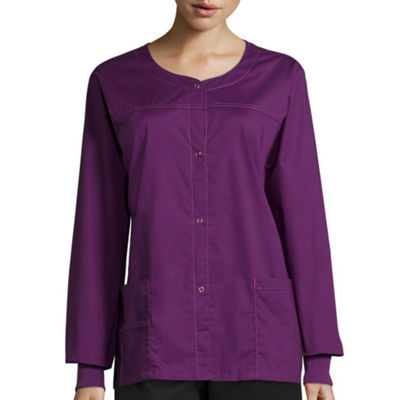WonderWink® WonderFlex 8108 Womens Constance Snap Jacket - Plus