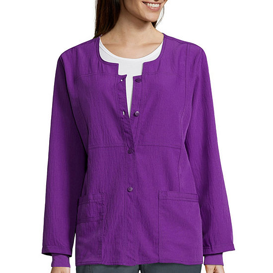 WonderWink® Four-Stretch 8114 Womens Sporty Snap-Front Jacket - Plus