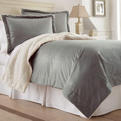Serta Faux Micro Faux Mink Sherpa 3-pc. Comforter Set