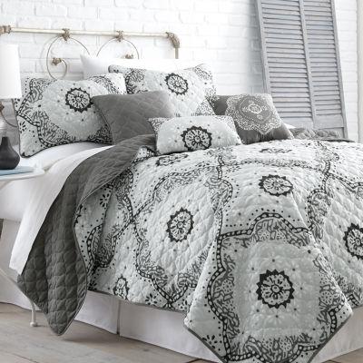 Pacific Coast Textiles Delany 6-pc. Reversible Comforter Set