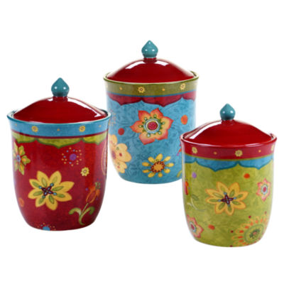 Certified International Tunisian Sunset 3-pc. Canister Set