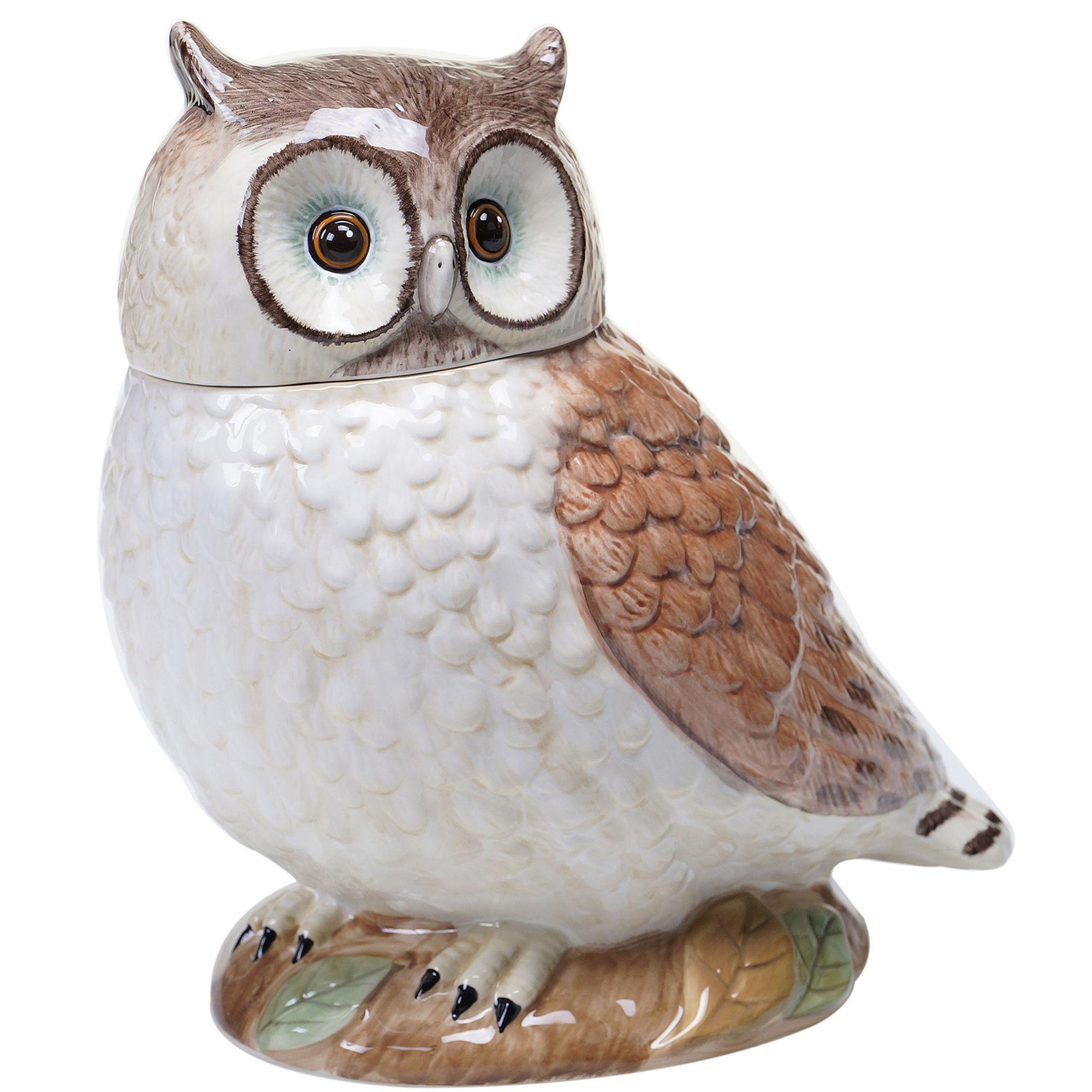 Certified International Rustic Nature 3D Owl Cookie Jar