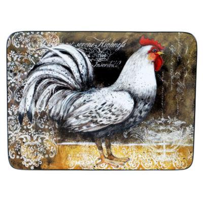 Certified International Vintage Rooster Rectangular Platter