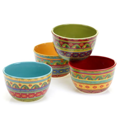 Certified International Tunisian Sunset Set Of 4 Ice Cream Bowls