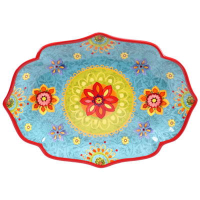 Certified International Tunisian Sunset Oval Platter