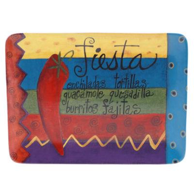 Certified International Salsa Rectangular Platter