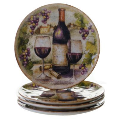Certified International Sanctuary Wine Set of 4 Salad Plates