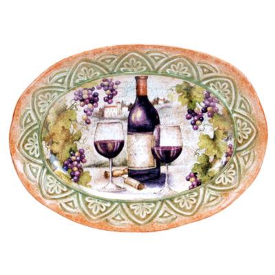 Certified International Sanctuary Wine Oval Platter