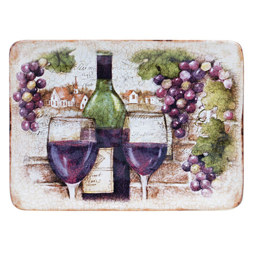 Certified International Sanctuary Wine Rectangular Platter