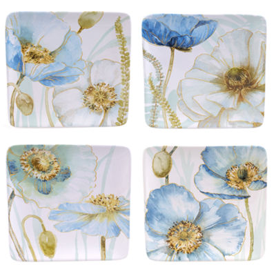 Certified International Greenhouse Set of 4 Poppies Salad Plates