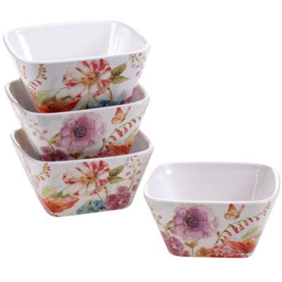 Certified International Rainbow Seeds Set Of 4 Ice Cream Bowls