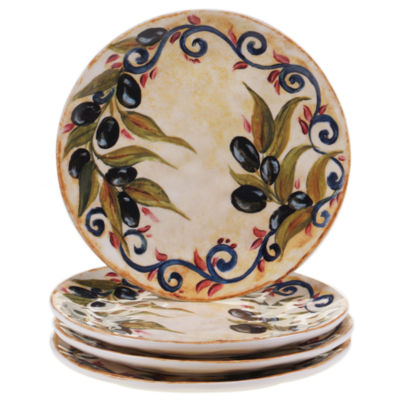 Certified International Umbria Set of 4 Salad Plates