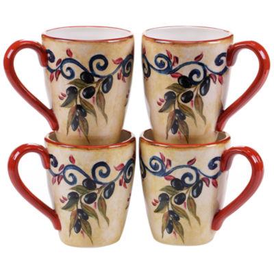 Certified International Umbria Set Of 4 Mugs
