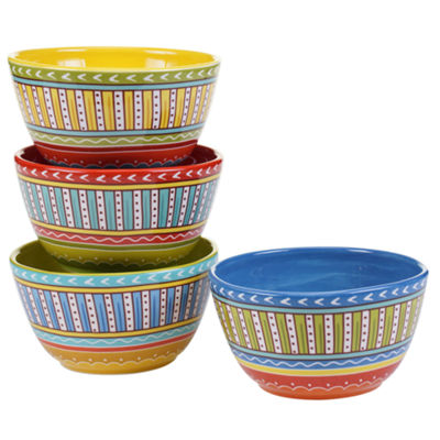 Certified International Valencia Set Of 4 Ice Cream Bowls