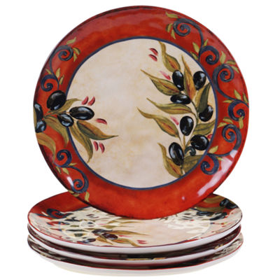 Certified International Umbria Set Of 4 Dinner Plates