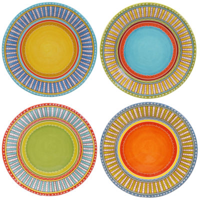 Certified International Valencia Set of 4 Dinner Plates