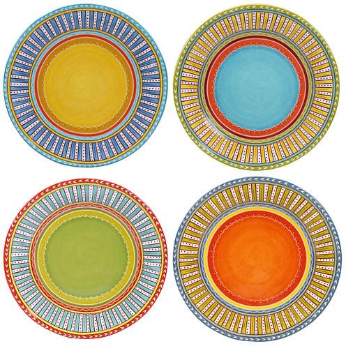 Certified International Valencia Set of 4 Dinner Plates