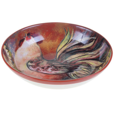 Certified International Sunflower Rooster Pasta Serving Bowl