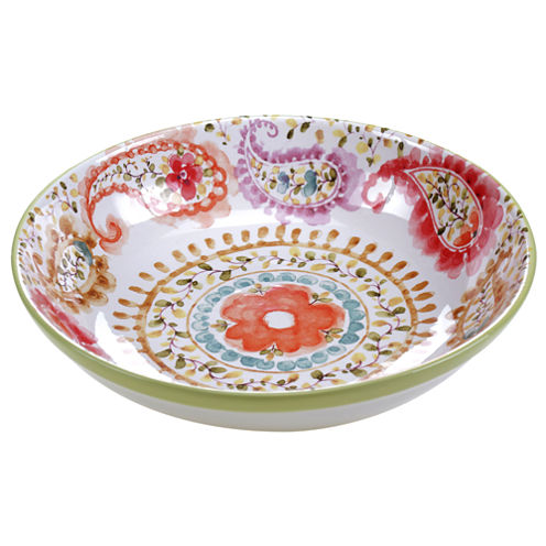 Certified International Rainbow Seeds Pasta Serving Bowl