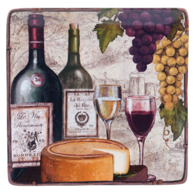 Certified International Wine Tasting Square Platter