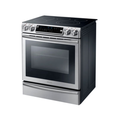 Samsung 5.8 cu. ft. Slide-In Electric Range with Flex Duo® Oven