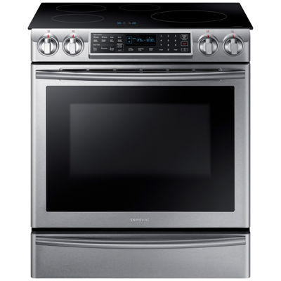 Samsung 5.8 cu. ft. Smart Wi-Fi Enabled Slide-In Induction Range With Virtual Flame™