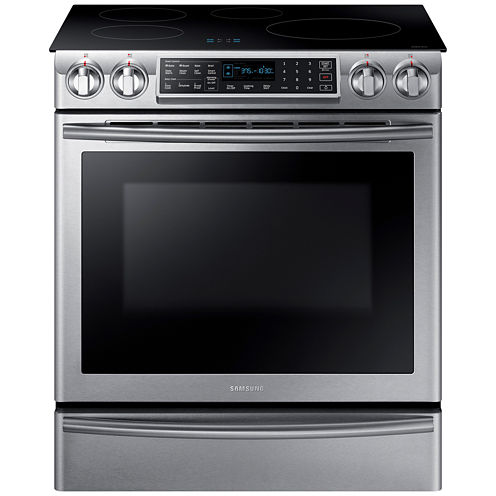 Samsung 5.8 cu. ft. Slide-In Induction Range With Virtual Flame™