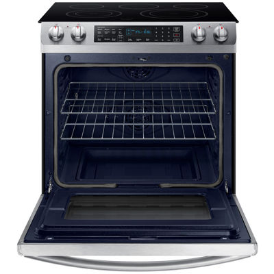 Samsung 5.8 cu. ft. Slide-In Electric Range with Fan Convection