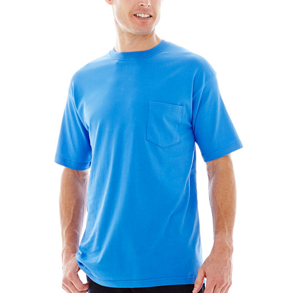 Stafford performance heavyweight crew tee big tall for Stafford t shirts big and tall