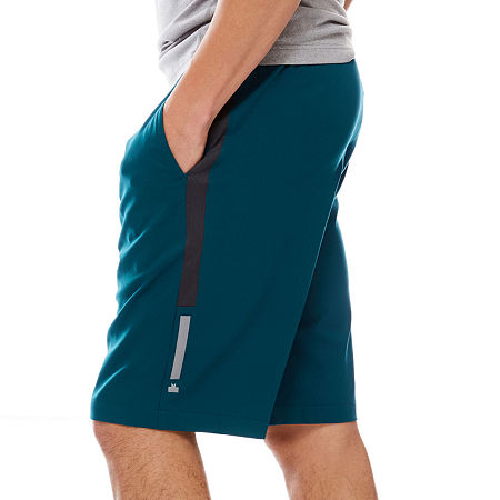 MSX by Michael Strahan Four-Way Stretch Shorts, Small , Blue