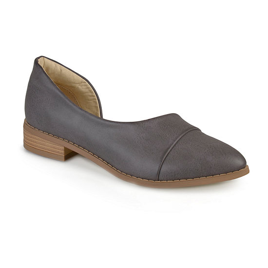 Journee Collection Womens Ballet Flats Buckle Pointed Toe
