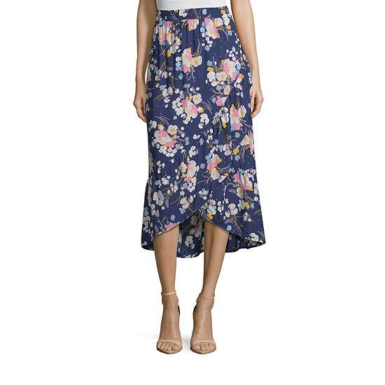 a.n.a Ruffle Midi Skirt - Tall