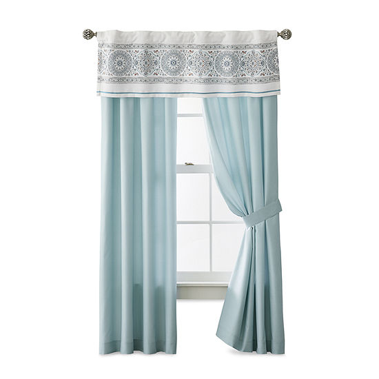 JCPenney Home Aurelia Tie-Top Curtain Panel