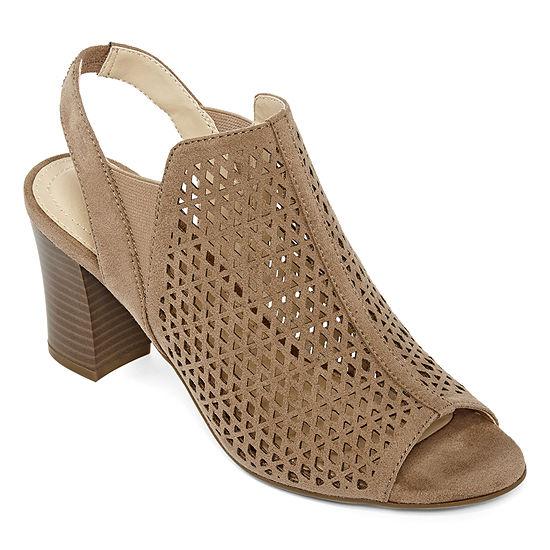 Liz Claiborne Womens Gamma Booties Block Heel